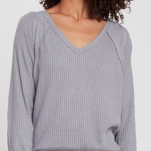 Free people waffle knit pullover NWOT